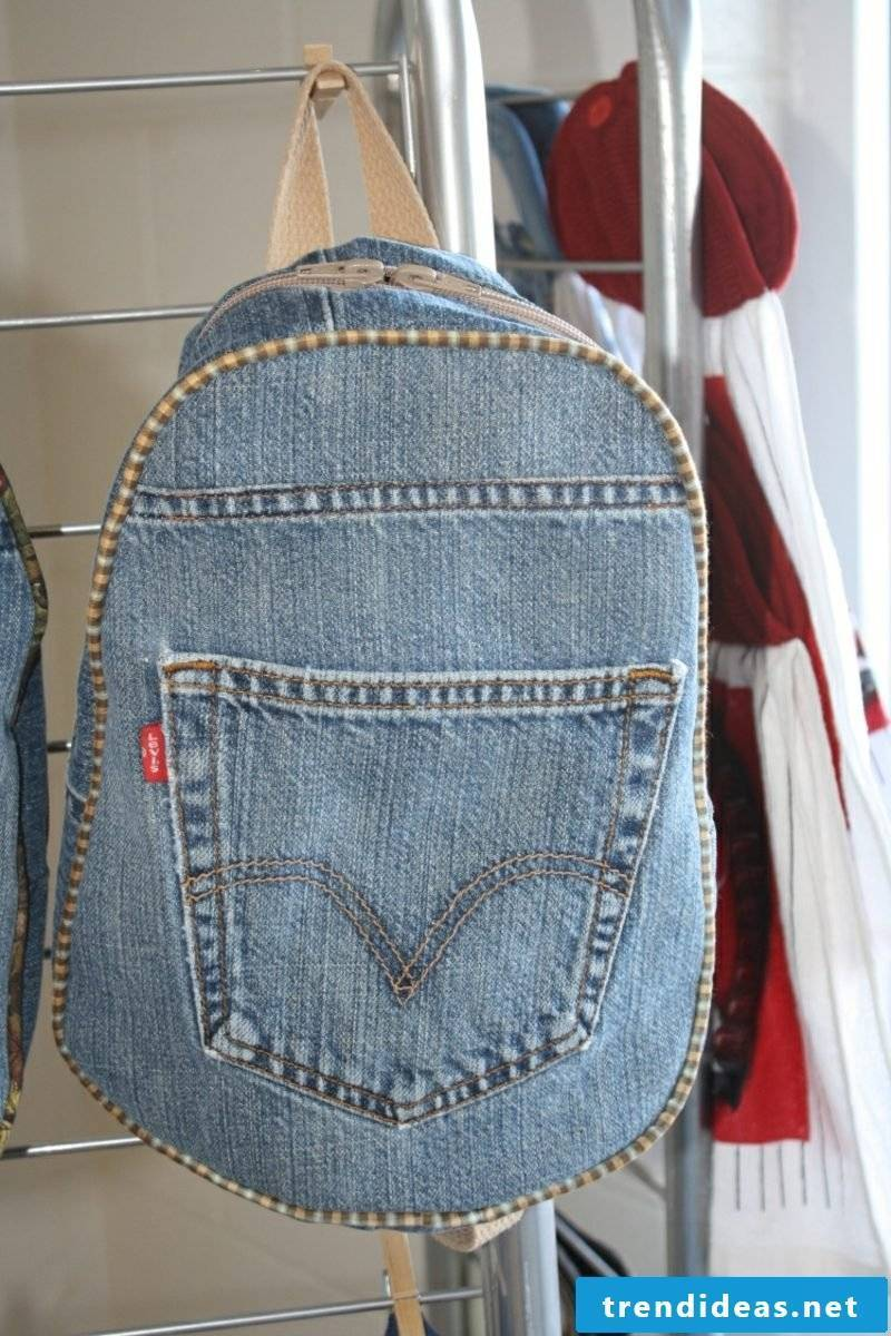 what can you make out of old jeans interesting bag
