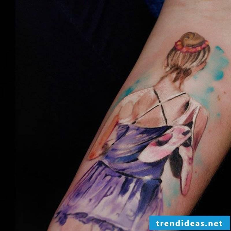 Watercolor Tattoo impressive design ideas