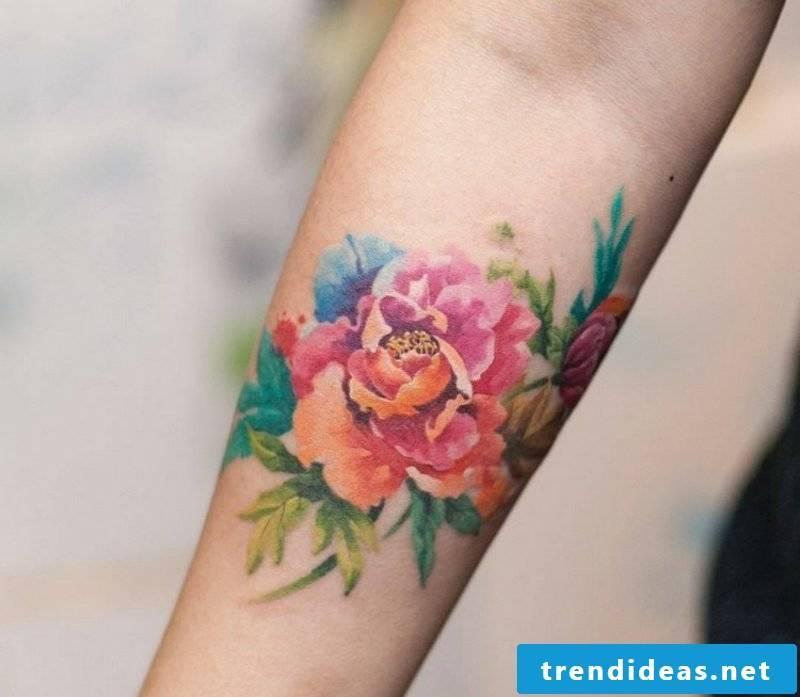 Watercolor tattoo durability