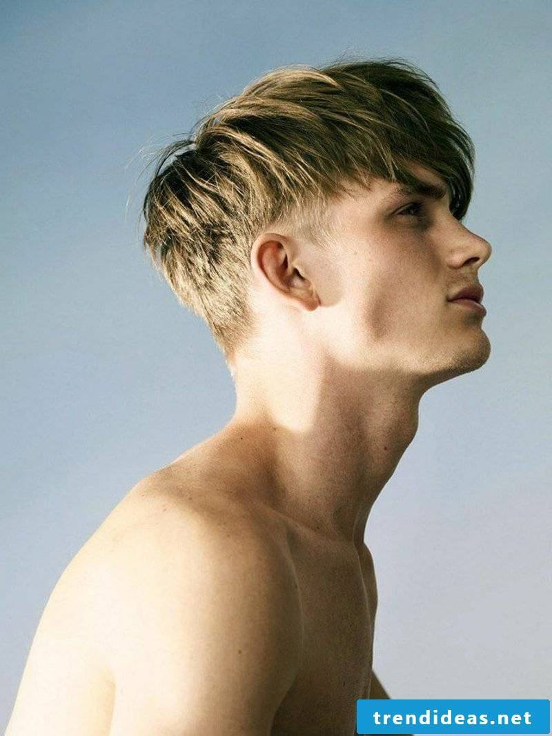 trendy men's hairstyle bold cut