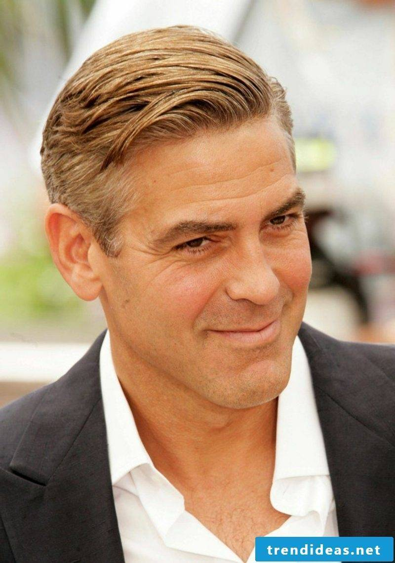 Hairstyle trends 2017 Men's side apex George Clooney