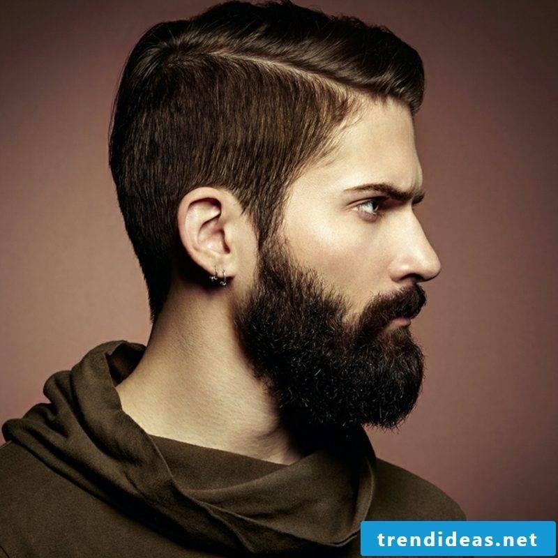 Men's hairstyles with full beard