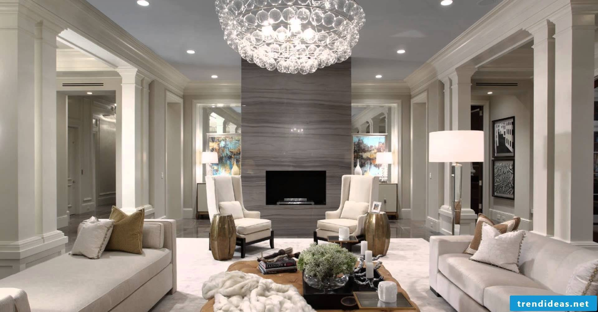 The glamorous home decor is characterized by the colors, such as ...