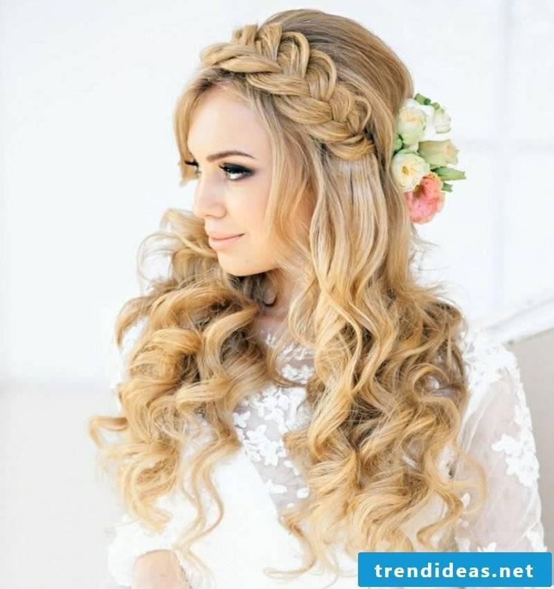 impressive hairstyle French braid long hair