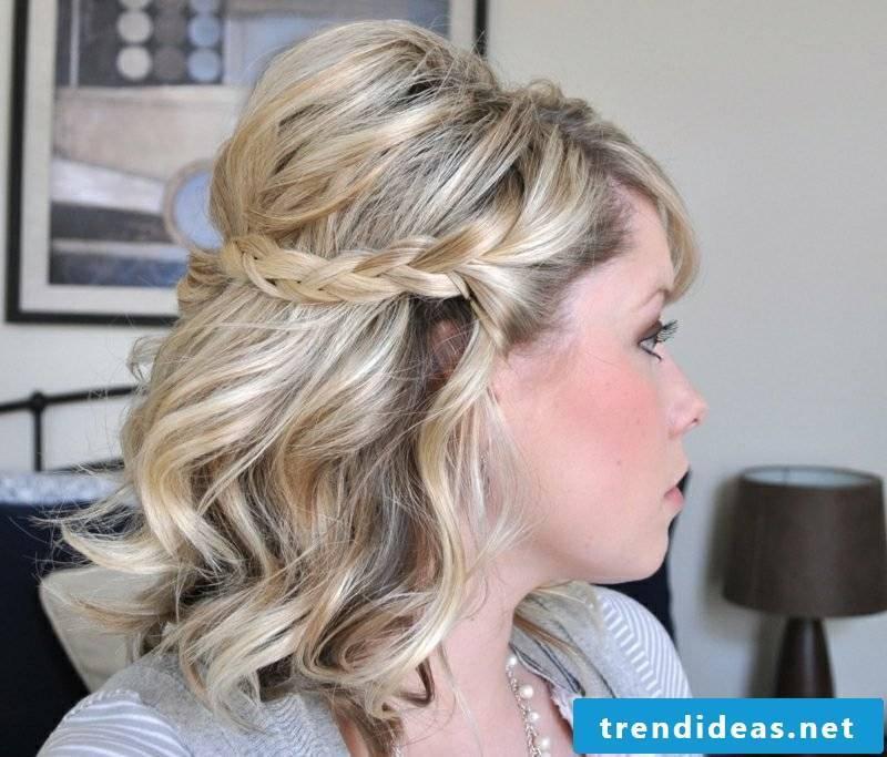 Braids medium-length hair braided
