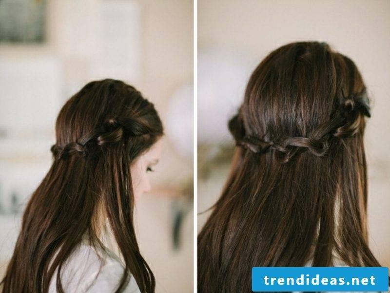 Girl hairstyles waterfall braid