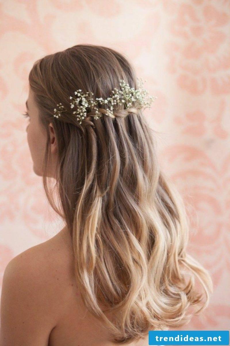 Hair braiding waterfall braid instructions