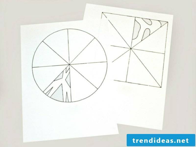 Window pictures for Christmas snowflakes from paper craft template