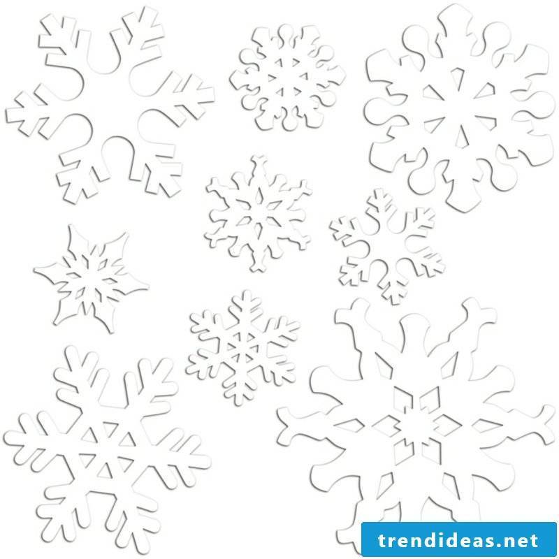 Window pictures for Christmas snowflakes craft template