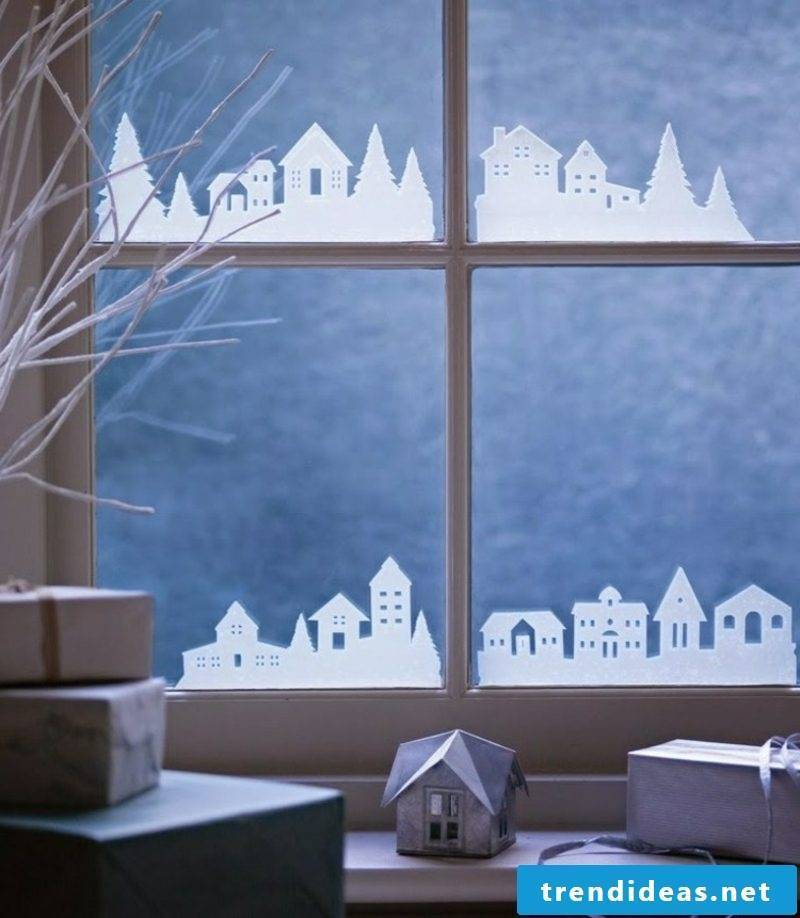 Window pictures for Christmas city paper