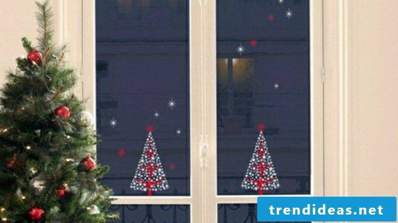 Window pictures for Christmas Christmas tree