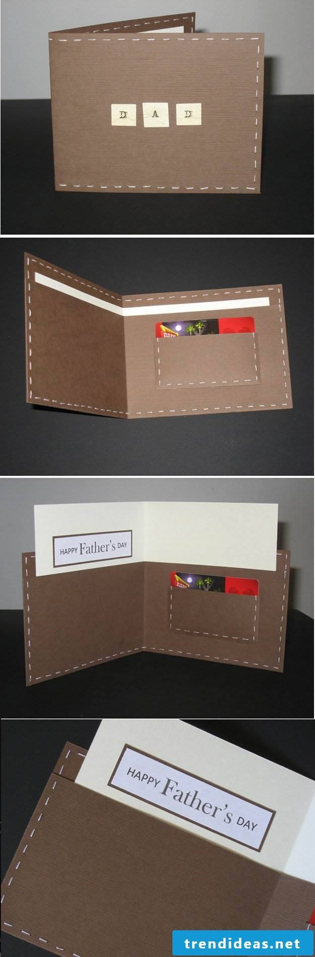 Make a father's day card yourself and wish your father all the best for Father's Day