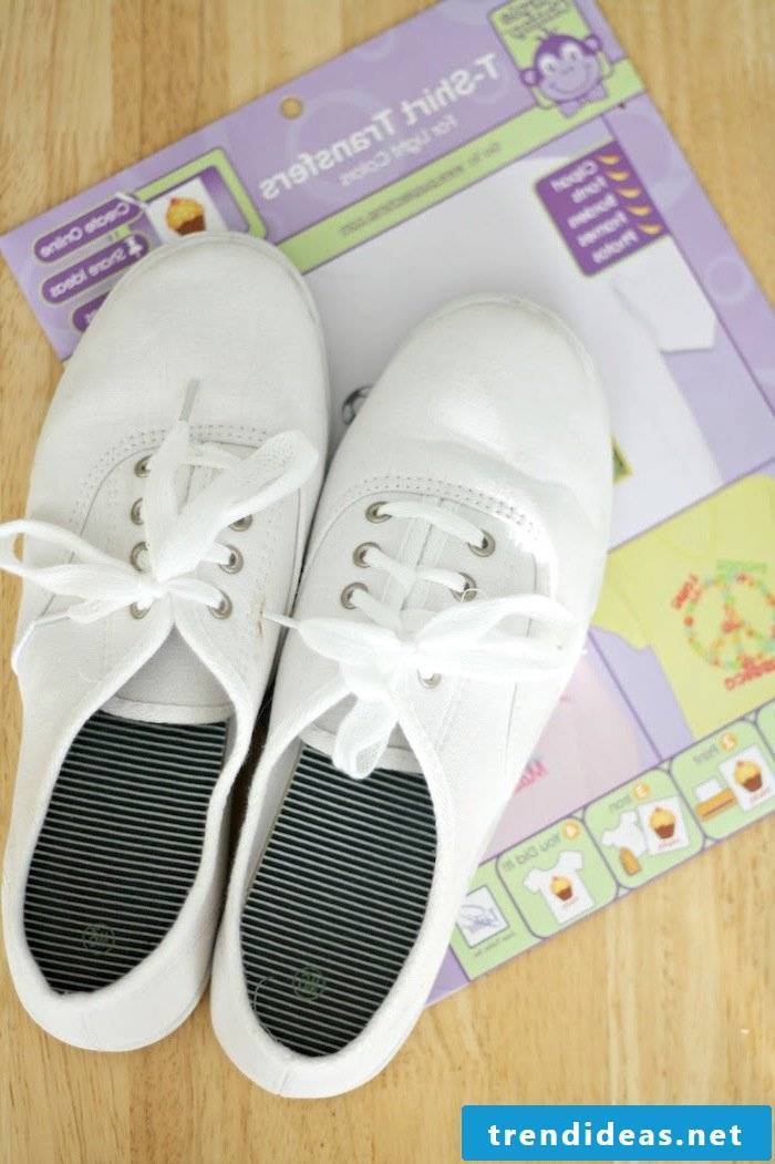 Give the simple ladies shoes a new look