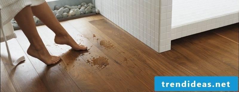 wood floor damp