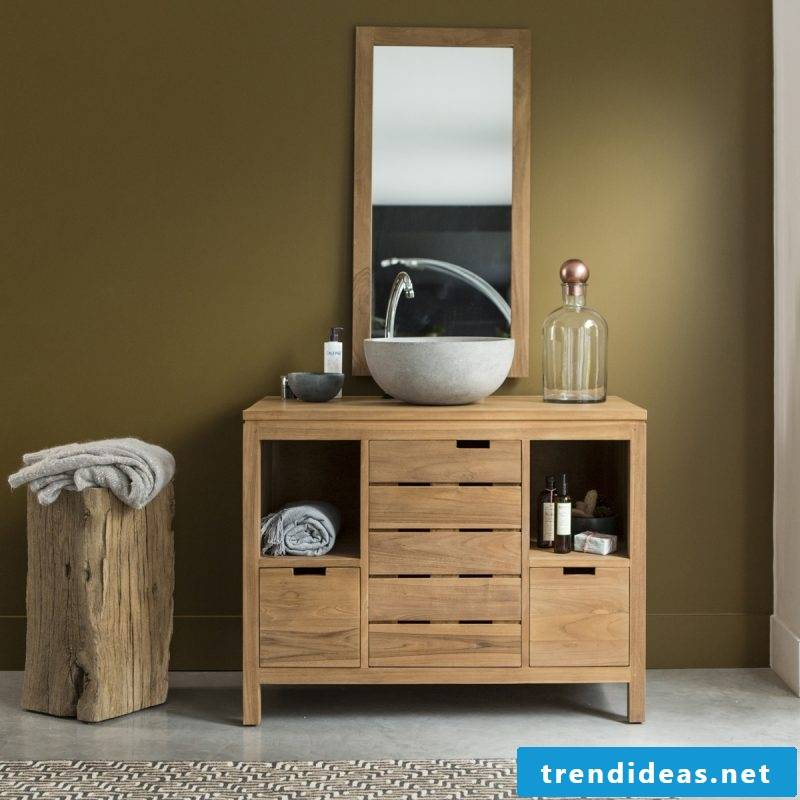 Wood vanity top looks stylish if cared for properly