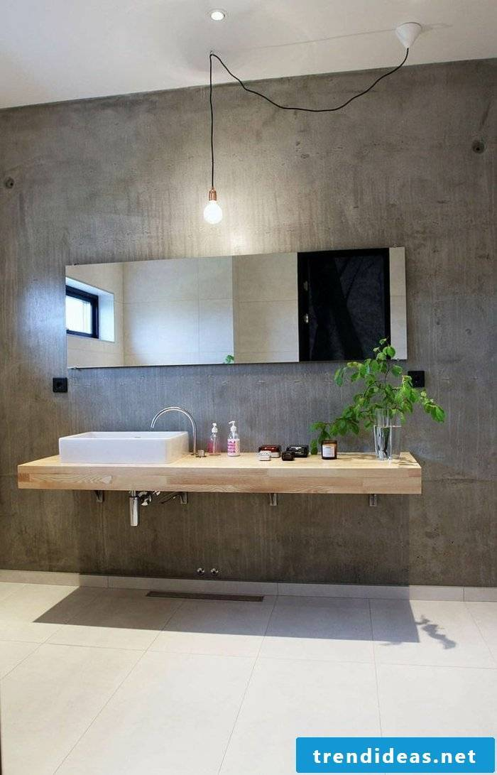Durable wood vanity top resistant with floral decoration in the bathroom