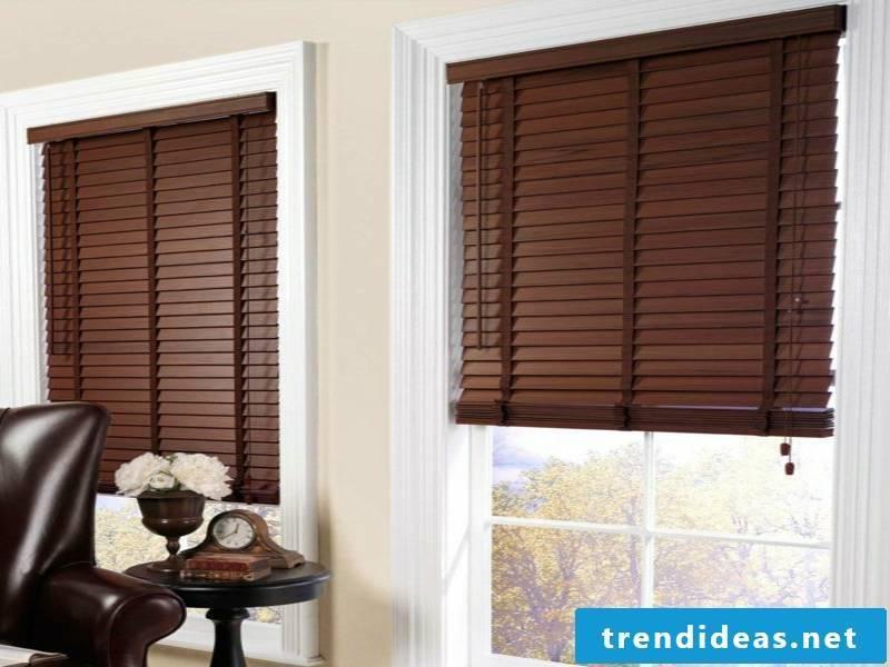 Elegant dark wooden blinds