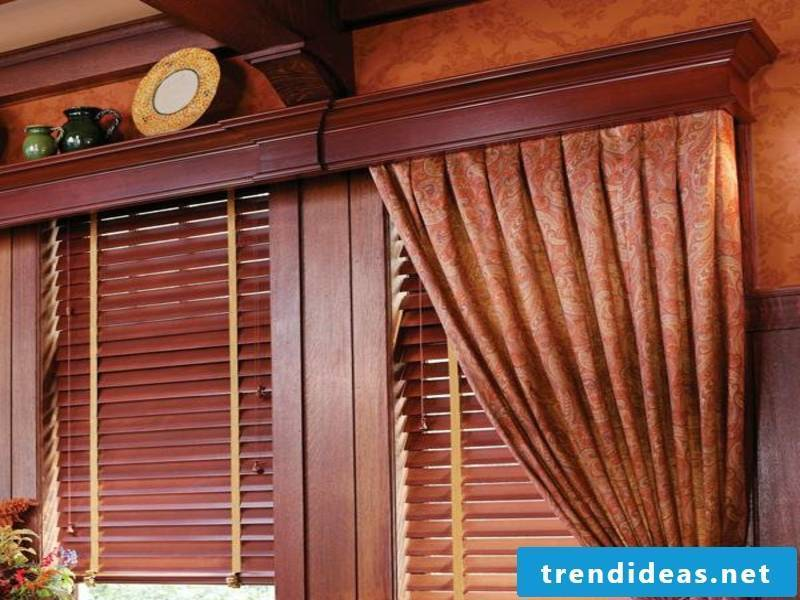 Gerdinen or wooden blinds - the light is regulated