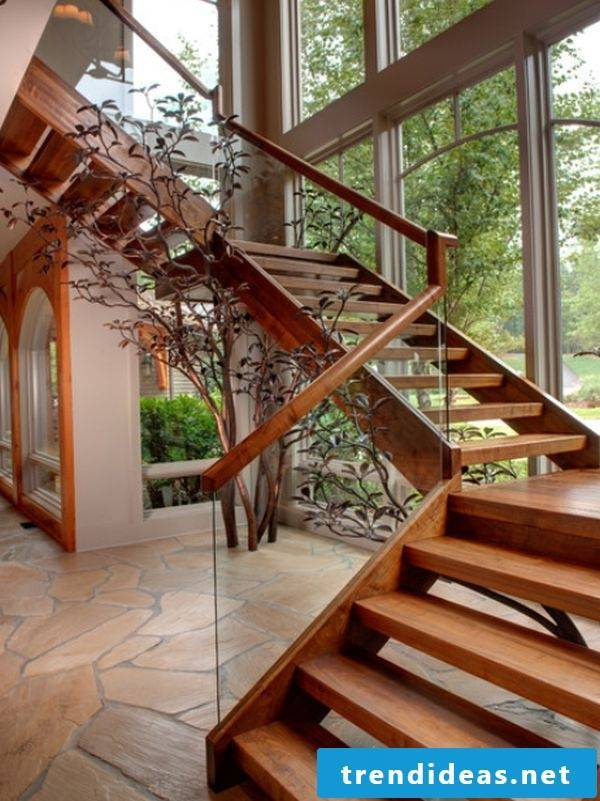 elegant wooden railings
