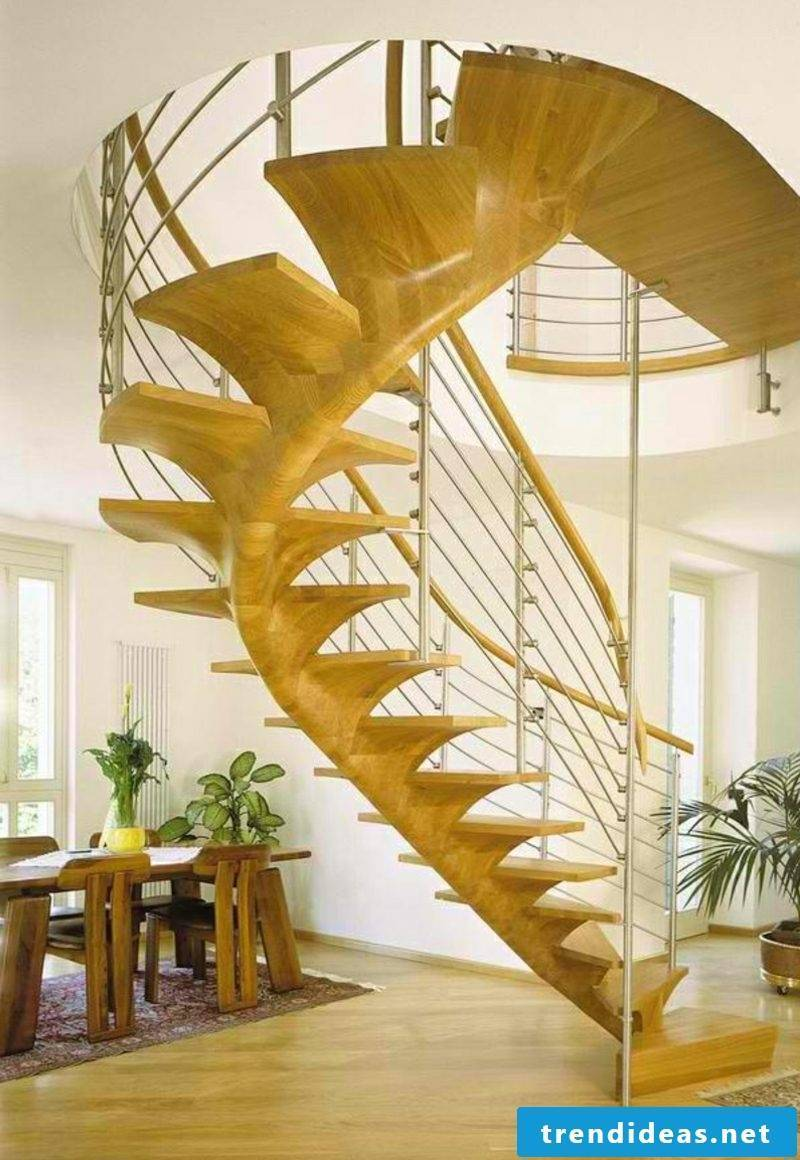 wooden staircase helical wood