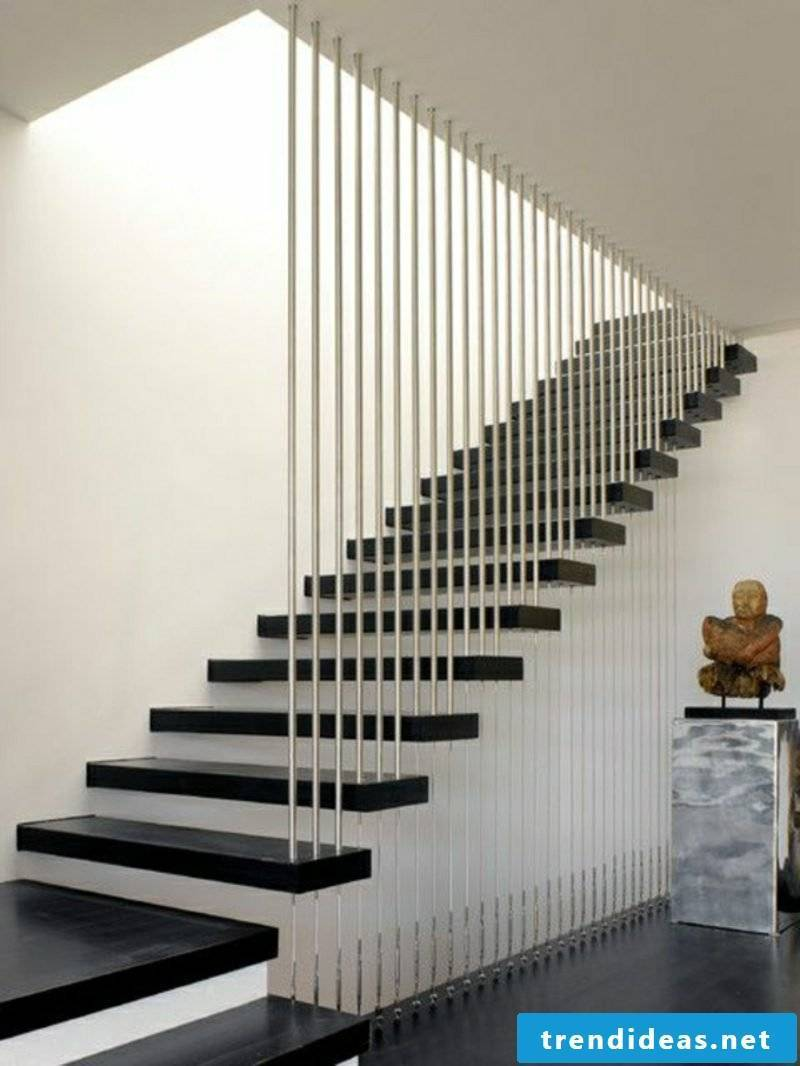 wooden staircase floating modern staircase