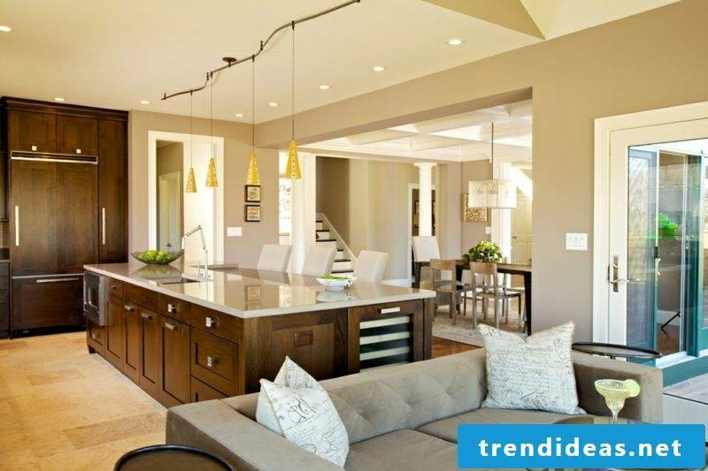 open plan kitchen kitchen island ideas