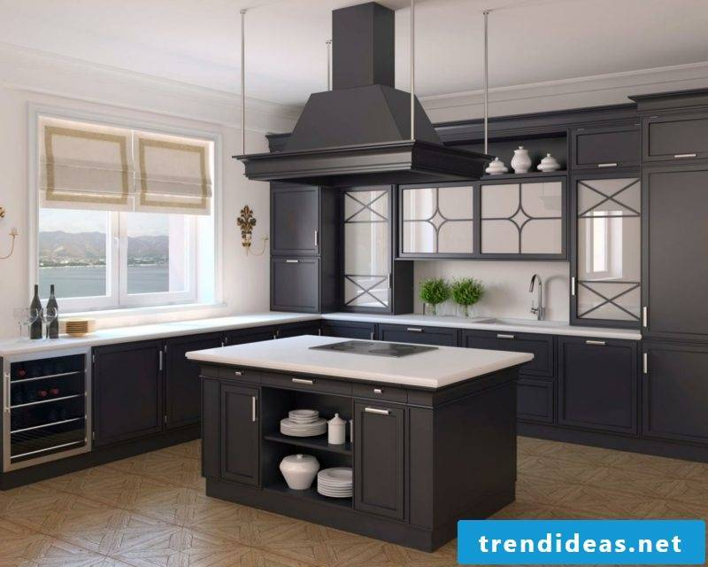 kitchen design open kitchen counter black