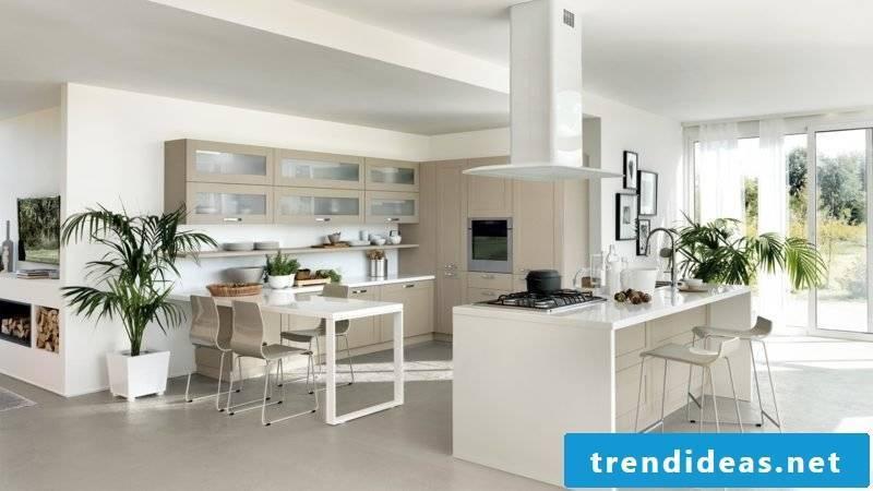 modern open kitchen with bar