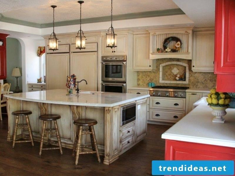 open kitchen rustic design