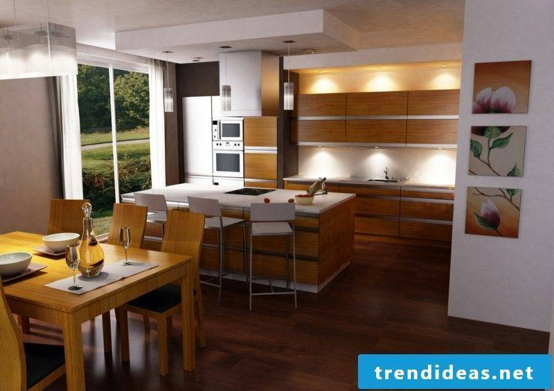 freestanding kitchen cooking island with bar