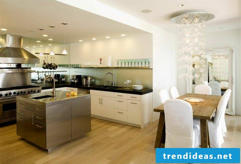 eat-in kitchen with cooking island ideas