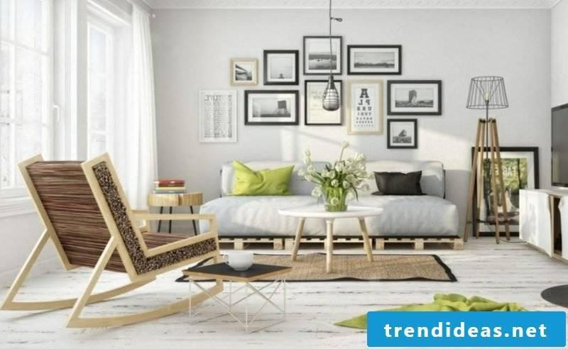 Pallet sofa Living room Scandinavian style