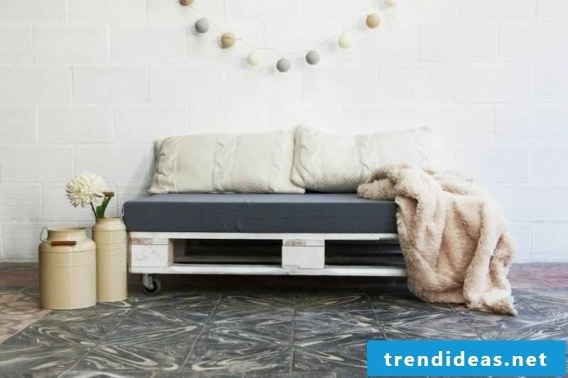 gorgeous pallet sofa for two