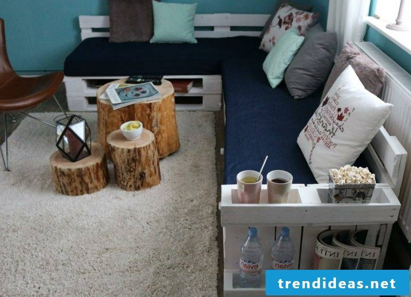 Pallet sofa itself built modern look