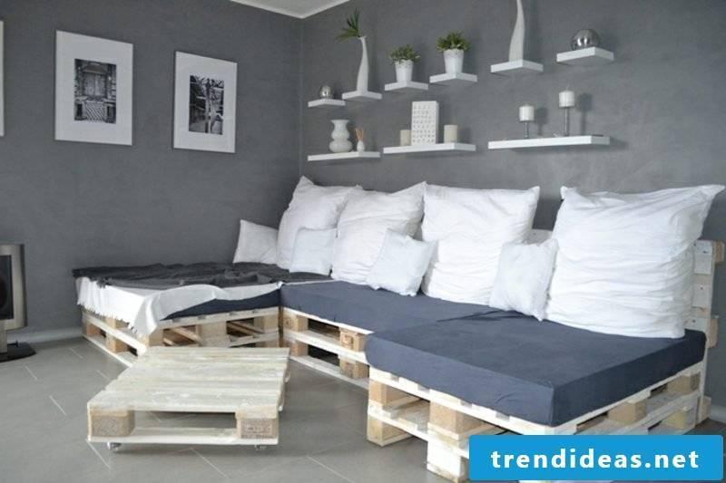 self-built pallet sofa