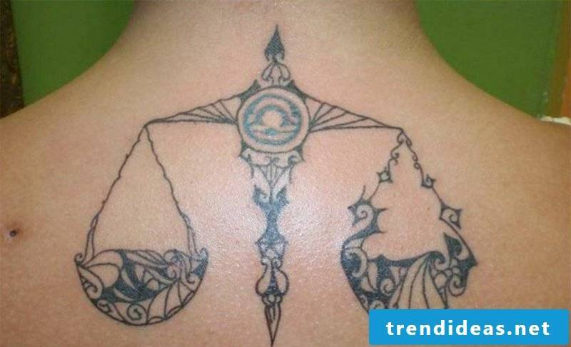 star sign tattoo Libra